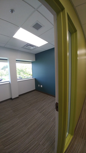 Interior office and wallcovering for CD Barnes Construction in Grand Rapids, MI.