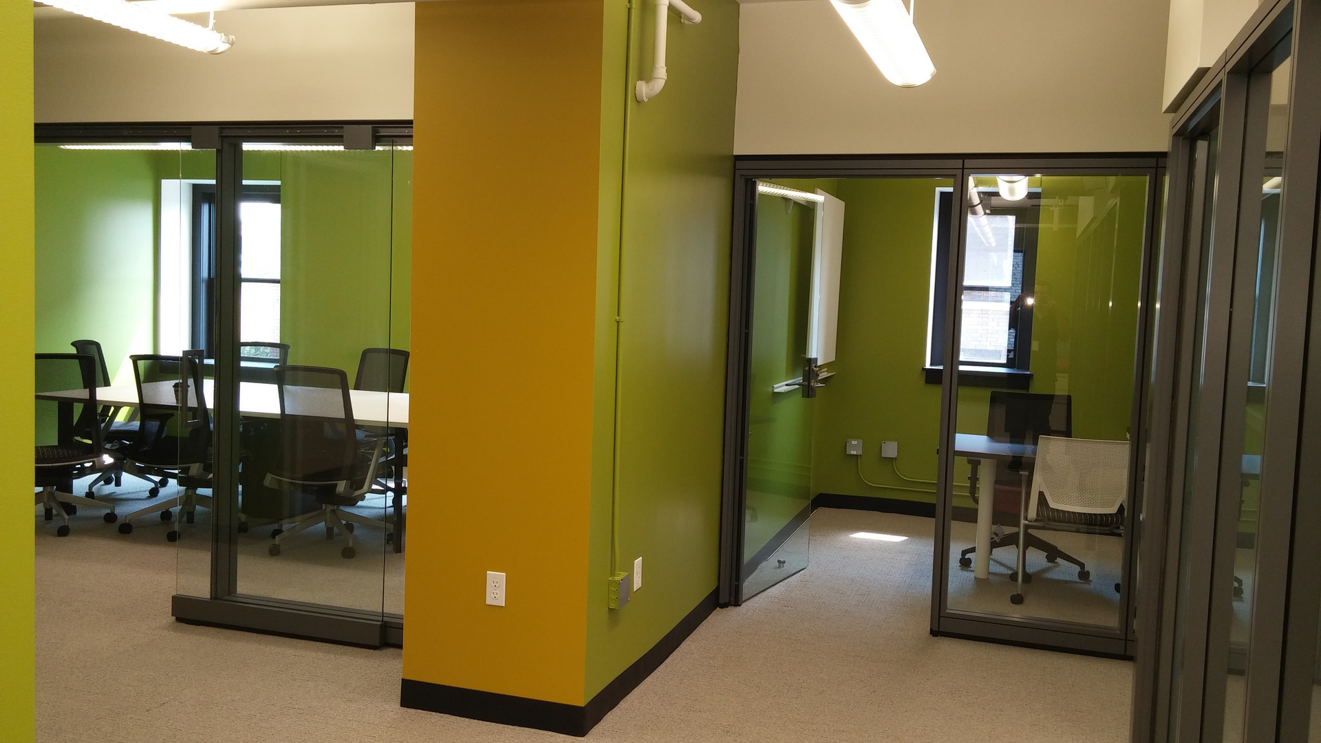 Insterior office space renovation for Rockford Construction.