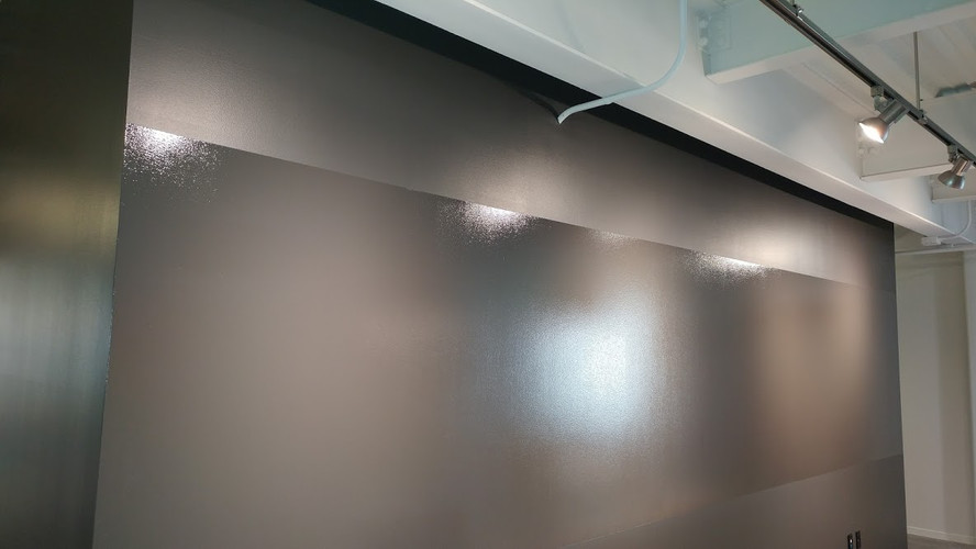 Interior commercial painting downtown Grand Rapids. (Thats a custom painted whiteboard)