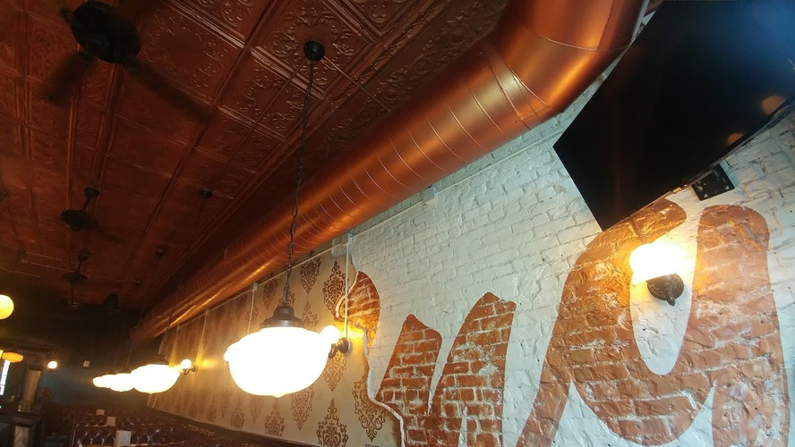Interior commercial restaurant project downtown Grand Rapids for Rockford Construction.