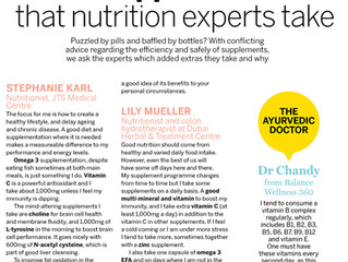 The supplements… that nutrition experts take
