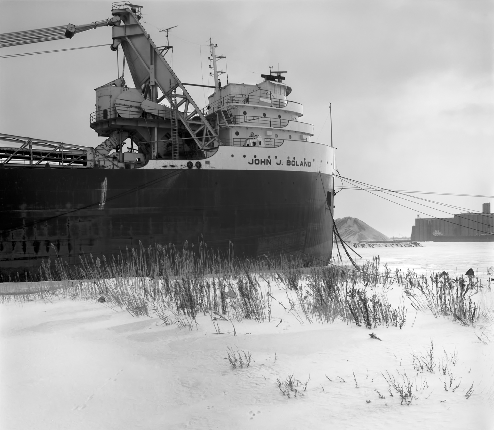 John J. Boland, American Steam Ship Lines, in Winter Layup, South Chicago, Illinois, 1982