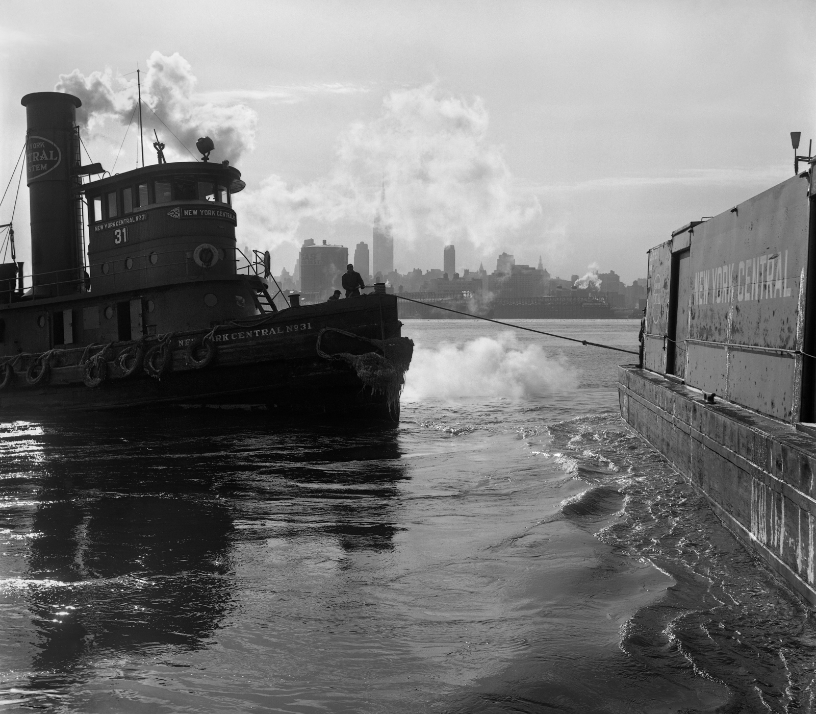 Steam Tug, NYC #31, Weehawken, New Jersey, 1963