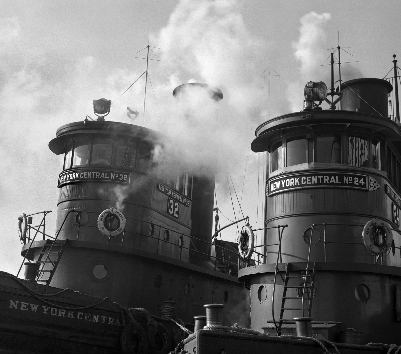New York Central Steam Tugs, Weehawken, New Jersey, 1963