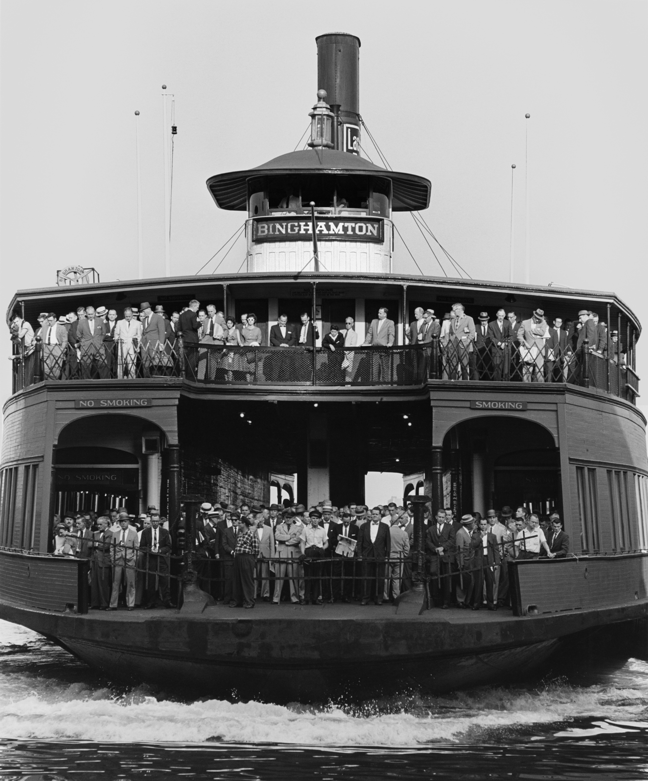 Ferryboat Binghamton, Barclay St. Terminal, New York, New Yourk, 1961