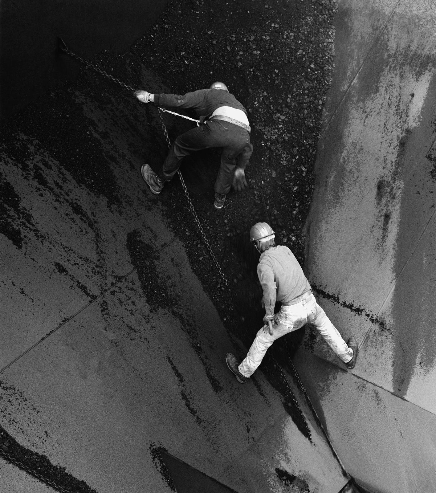 Cleaning Cargo Hold, Steamer Crispin Oglebay,1989