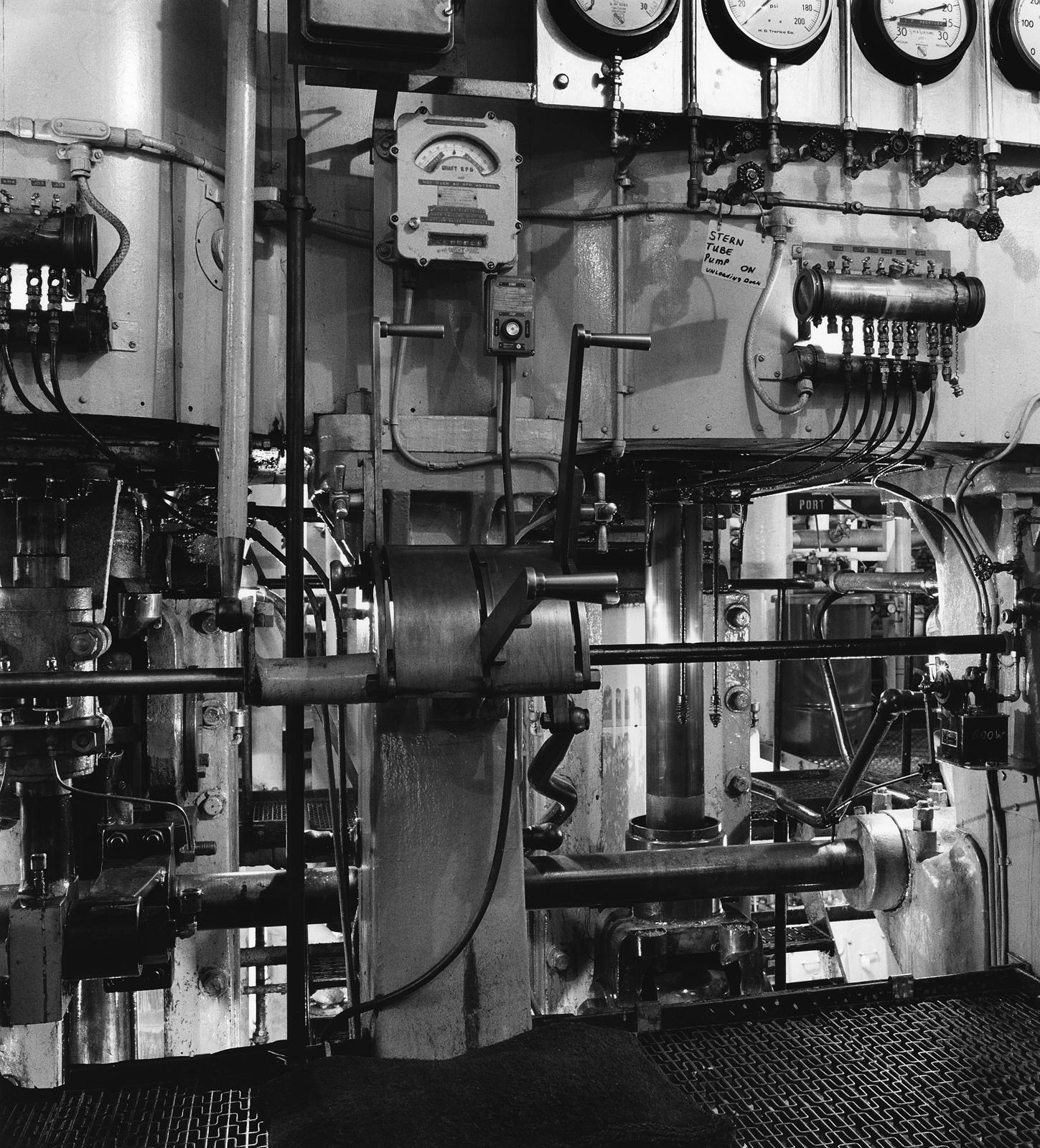 Engine Room, Steamer Crispin Oglebay, 1990