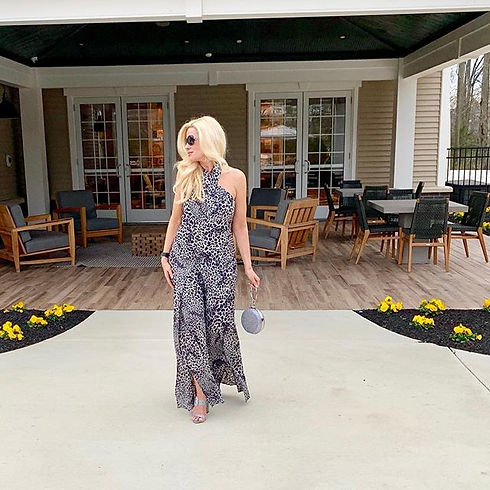 gray jaguar print jumpsuit from one of m