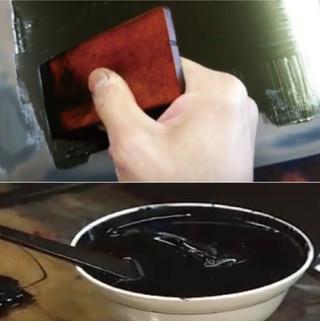 塗り作業(3〜6工程)
