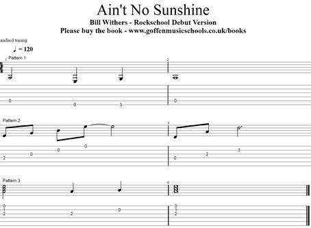 Ain't No Sunshine - Rockschool Debut Acoustic