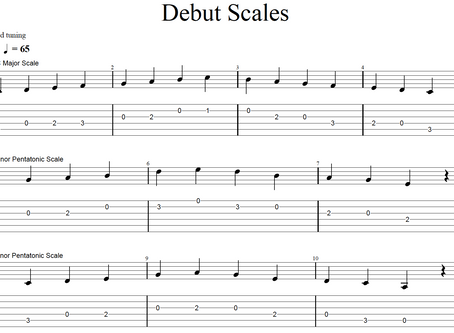 Rockschool Debut Technical Exercises: Scales