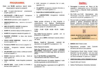 La Repubblica delle Associazioni: activity programme