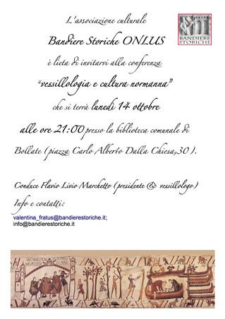 """Our next conference: """"Vessillologia e cultura normanna"""""""