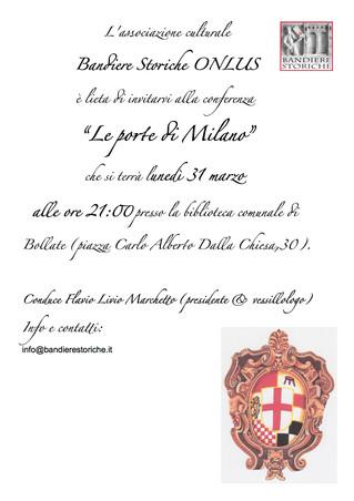 """Our next conference: """" Le porte di Milano"""""""