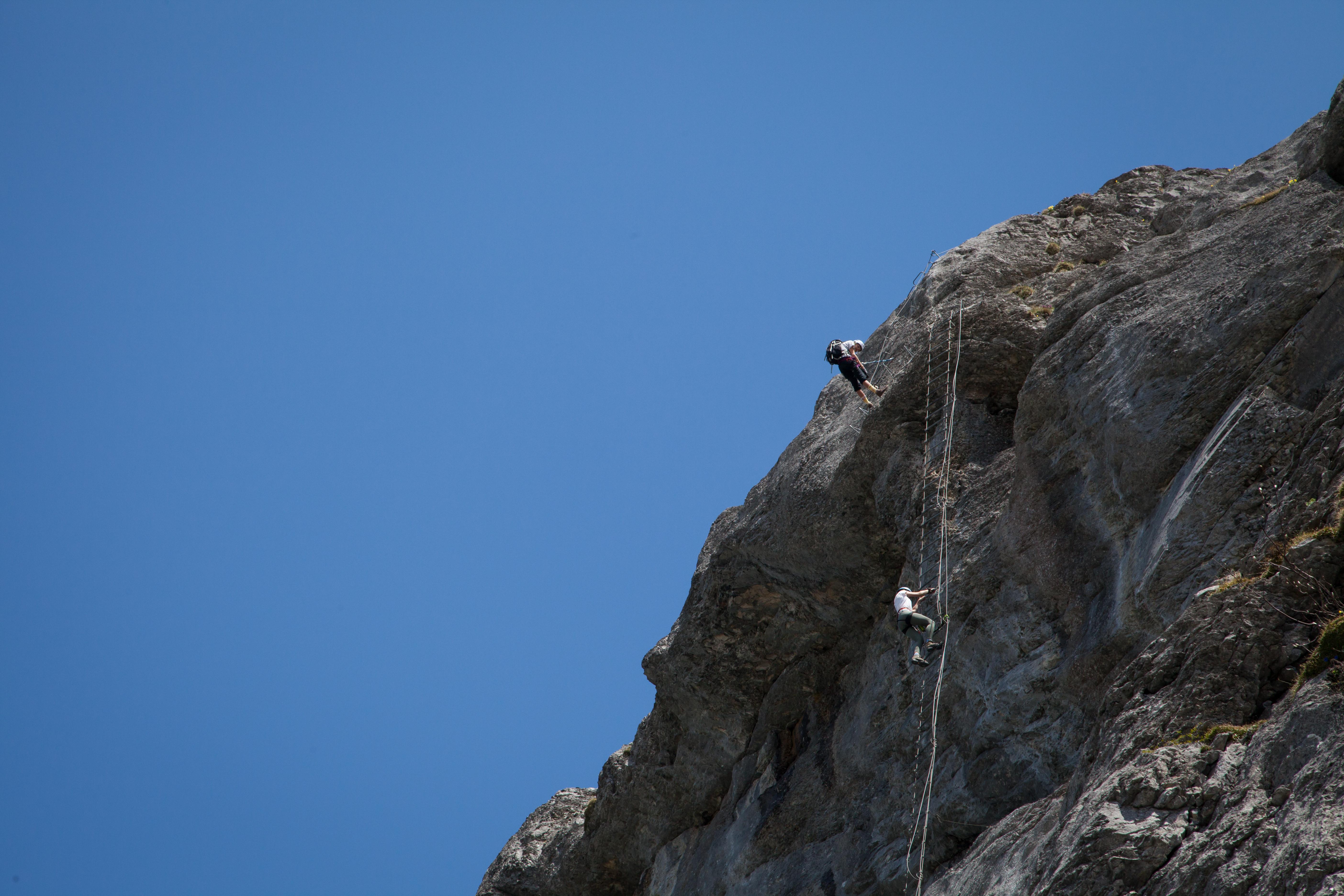 "Klettersteig Gruppe ""Via Ferrata"""