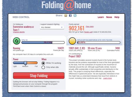 Folding@Home Hero aneb kdo pomáhá, vyhrává