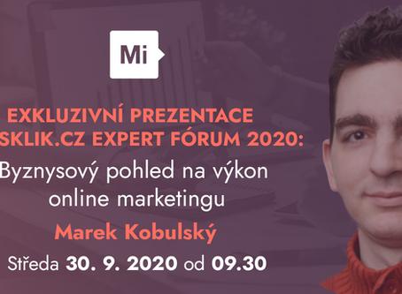 Sklik.cz Expert fórum 2020: Byznysový pohled na výkon online marketingu