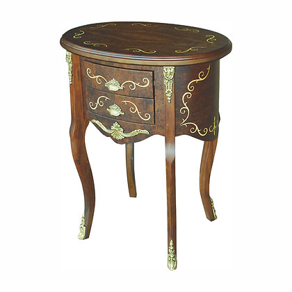 004/052 Oval Side / End Table 24.41 x 17.72 x 31.10 in