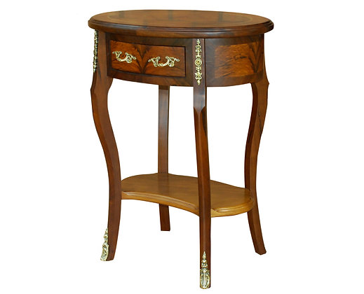 004/077 Oval Side / End Table 24.41 x 17.72 x 31.10 in