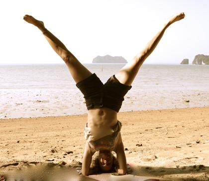Yoga in Thailand, Februar 2015