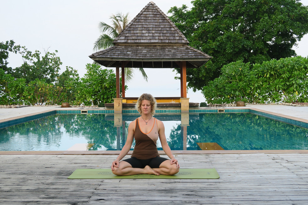 Yoga in Thailand, Dezember 2014