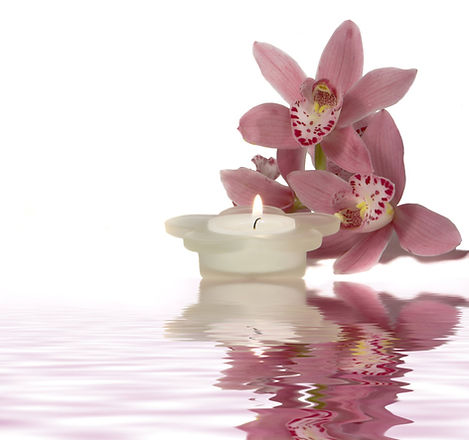 Fredlig Candle och blommor