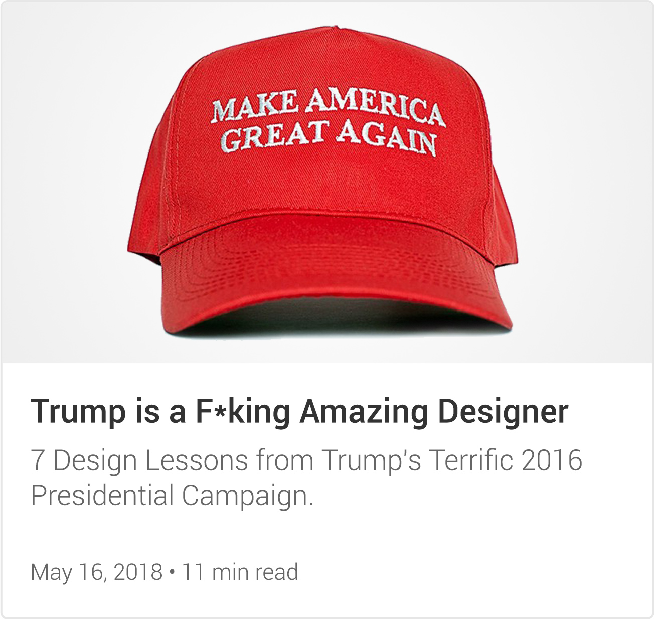 Trump is a F*king Amazing Designer