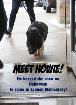 Meet Howie the Pig!