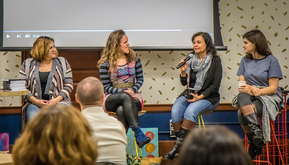 Panel that Consciousness Continues creator Heather Dominguez was a part of
