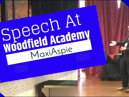 Speech at Woodfiled Academy - Video Is Now Available