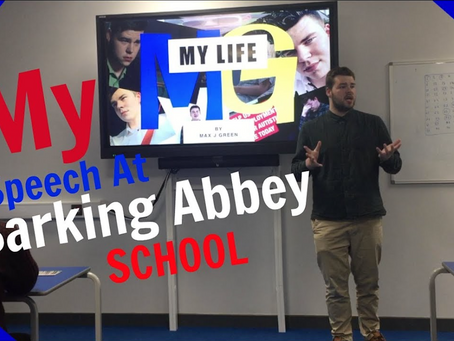 Speech At Barking Abbey - Video Is Now Available