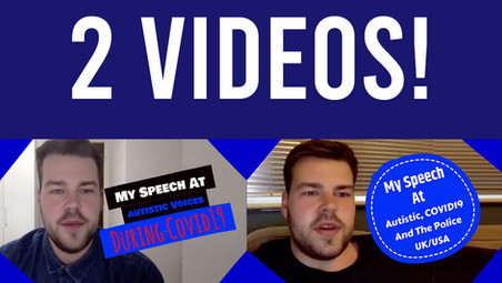 Speech At Autism Voices During Covid19 The Police and Covid19 (Online Events) - Video Now Available