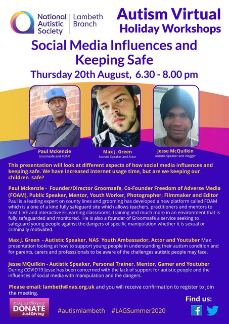 Max To Speak At A2ndVoice Social Media Influences And Keeping Safe (Online Event)
