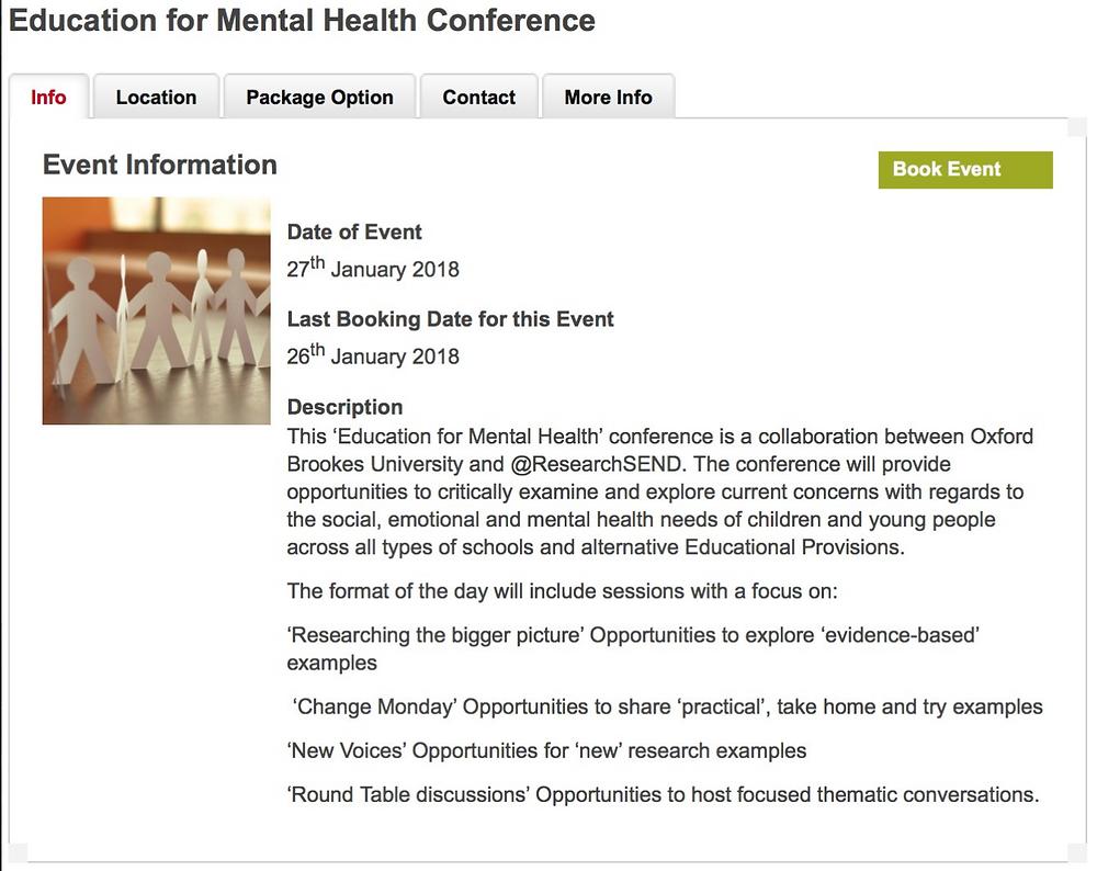 Mental Health Agenda