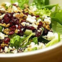 Salad with Walnuts, Cranberries & Feta