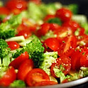 Broccoli with Tomatoes & Parmesan