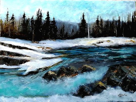 Elbows Falls, Alberta- Techniques mixtes