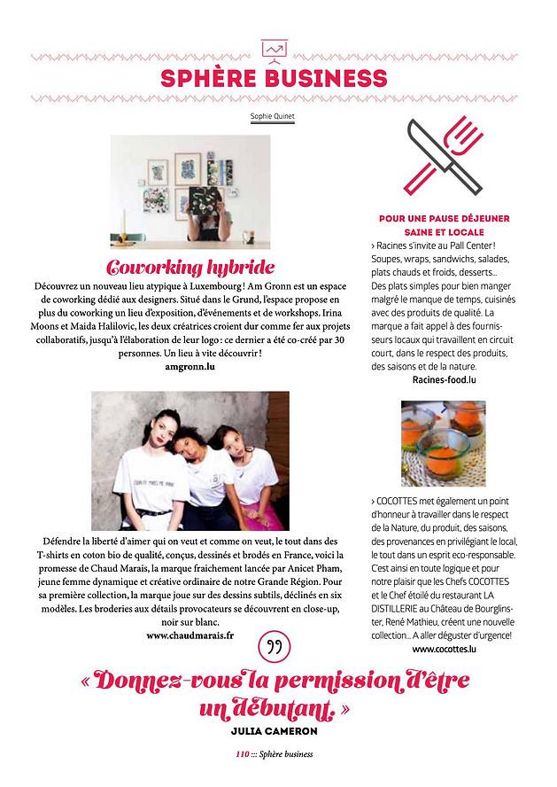 article Janette magazine Luxembourg Chaud Marais