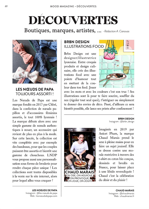 article Mood Magazine Chaud Marais Lyon