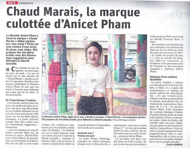 article Républicain Lorrain Chaud Marais Metz