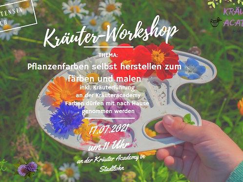"""""""Pflanzenfarben selbst herstellen"""" zum färben und malen am 17.07.21"""