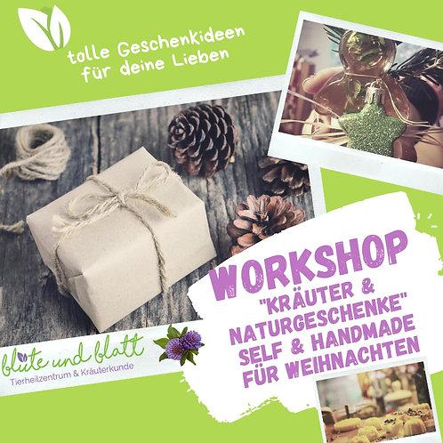 """Workshop """"Kräuter & Naturgeschenke"""" Self & Handmade für Weihnachten(Sa. 05.12.)"""