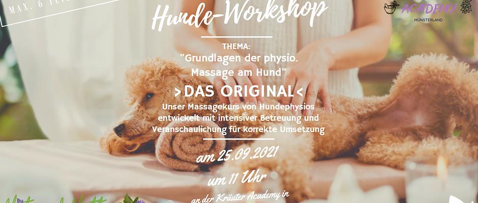"""""""Grundlagen der physio. Massage am Hund"""" >DAS ORIGINAL< am 25.09.21"""