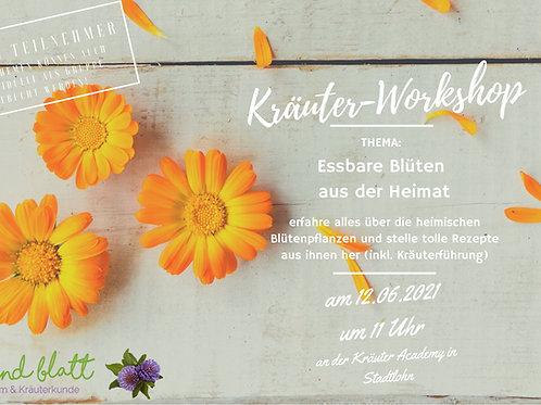 Essbare Blüten aus der Heimat am 12.06.21