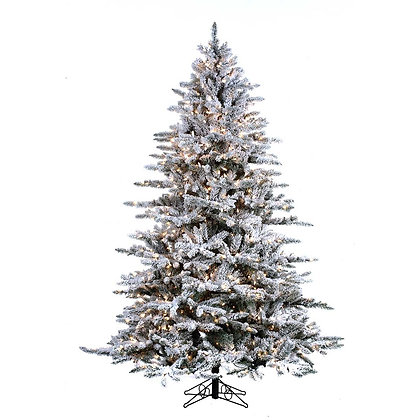 Mountain Pine Flock 7.5' Permanent Christmas Tree (800 Staylit CL)