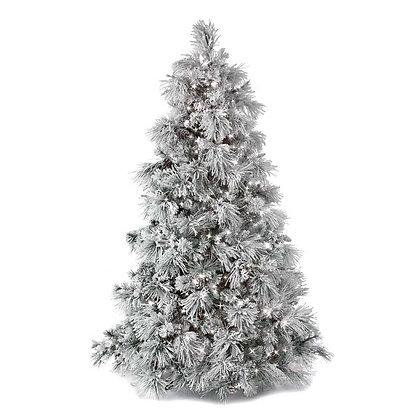 Flock Long Needle Pine 7.5' Permanent Christmas Tree (800 LED CL)