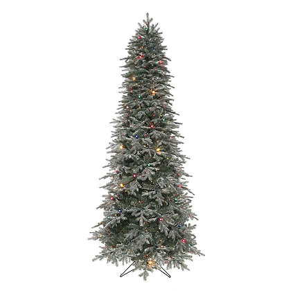 Frosted Stowe Slim 7.5' Permanent Christmas Tree (550 MULTI)