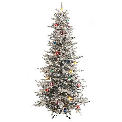 Flock Aspen 7.5' Permanent Christmas Tree (550 CL/MULTI)
