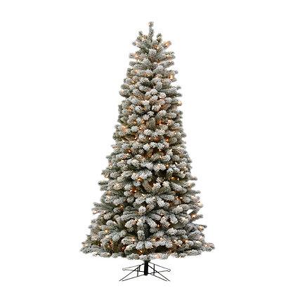 Oregon Flock Slim 7.5' Permanent Christmas Tree (400 CL)