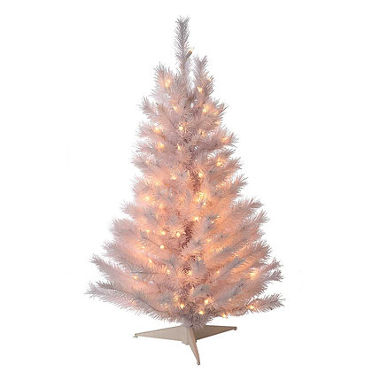 Pine Tree White 3' Permanent Christmas Tree (150 CL)
